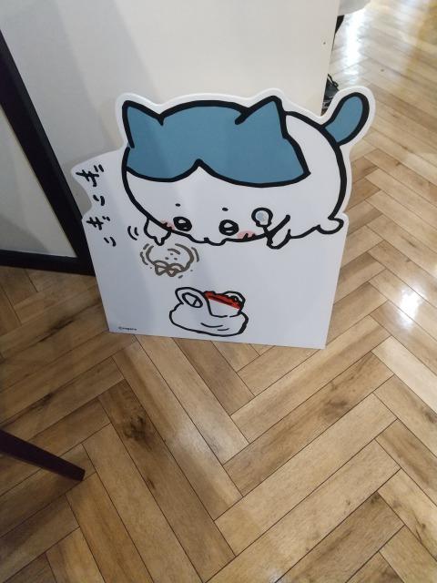 ちいかわカフェ展示ハチワレ